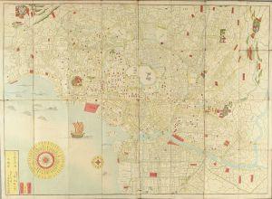 無款/萬寿御江戸絵図 文久改正 (c.1861) 72.5x99.3cm. のサムネール