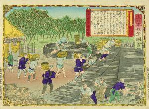 広重三代/大日本物産図会 美濃 石灰焼之図のサムネール