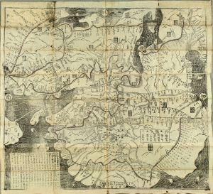 /西国順礼方角絵図 享保19年(1734)刊 元表紙 元題箋 少傷 のサムネール