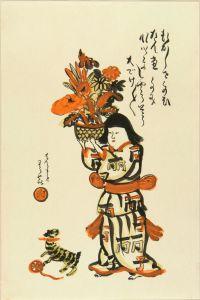 岸田劉生/麗子の肖像 劉生画 手刷複製木版画 高見沢版 昭和63年 (1988) 帙入のサムネール