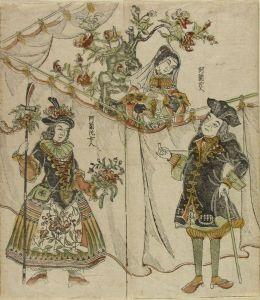 長崎版画/阿蘭陀人 阿蘭陀女人のサムネール