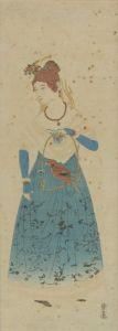 長崎版画/オランダ女人のサムネール