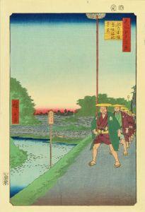 広重/名所江戸百景 紀の国坂赤坂溜池遠景のサムネール