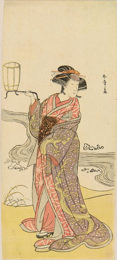 SHUNSHO A full-length portrait of the actor Nakamura Riko