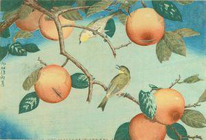 清親/柿に目白のサムネール