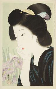 近藤紫雲/新浮世絵美人合 六月 菖蒲のサムネール