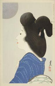 井川洗涯/新浮世絵美人合 八月 月のサムネール