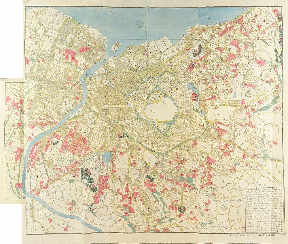 UNSIGNED Map of Edo