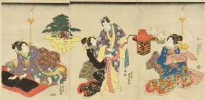 豊国三代/婚礼準備の図のサムネール