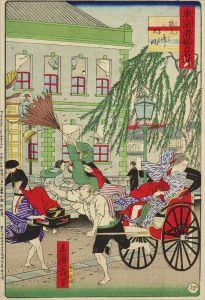 広重三代/東京滑稽名所 煉瓦通り大風のサムネール