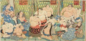 国貞/大相撲部屋之図のサムネール