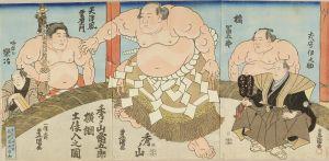 豊国三代/秀ノ山雷五郎横綱土俵入之図のサムネール