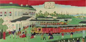 一景/汐留より蒸気車通行の図のサムネール