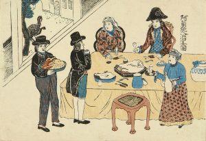 長崎版画/阿蘭陀人酒宴之図のサムネール