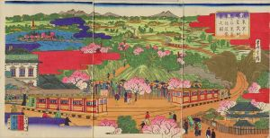 重清/従東京上野至武州 熊谷蒸気機関車往復繁栄之図のサムネール