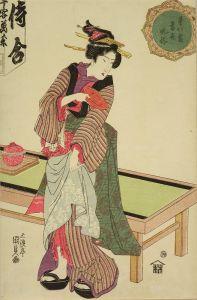 国貞/星の霜当世風俗 茶屋娘のサムネール