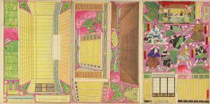梅堂/幡随院長兵衛風呂場の図 組上絵のサムネール