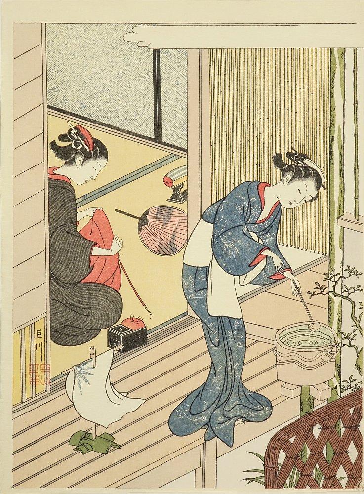 春信 座敷八景 8枚揃 原寸 アダチ版画研究所 台紙付 帙入