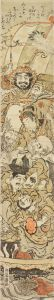 湖竜斎/七福神図 柱絵のサムネール