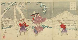 年方/雪月花之内 常盤御前雪中之図のサムネール