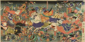 芳虎/天文二十三年八月十八日 武田上杉川中島大合戦図のサムネール