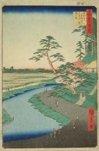 広重/名所江戸百景 せき口上水端はせを庵椿やま のサムネール