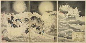 清親/威海衛配置之図 九号水雷艇のサムネール
