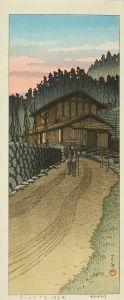 川瀬巴水/子の山の夕暮(埼玉県)のサムネール