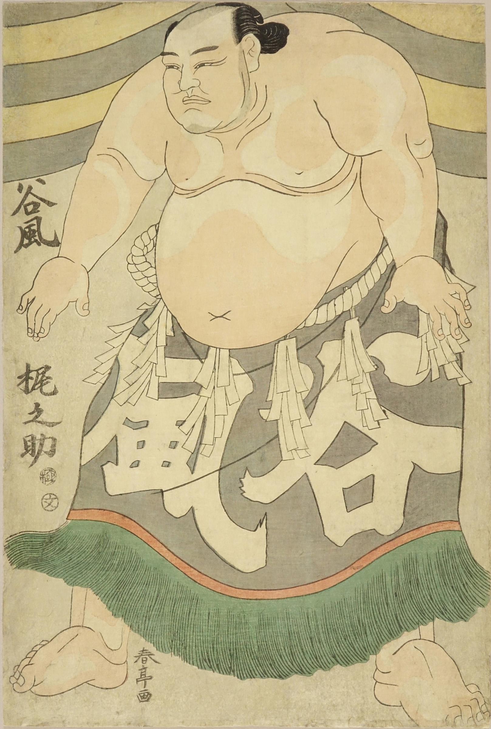 SHUNTEI Portrait of the sumo wrestler Tanikaze Kajinosuke (Miyagi Pref.)