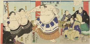 国輝/鬼面山谷五郎 (岐阜県) 横綱土俵入之図のサムネール