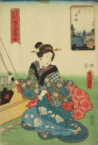 豊国三代/江戸名所百人美女 芝神明のサムネール