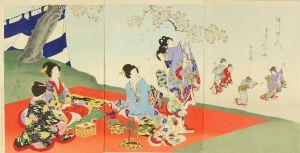 周延/徳川時代貴婦人の図 お花見のサムネール