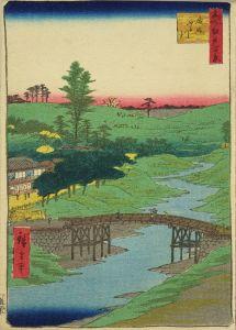 広重/名所江戸百景 広尾ふる川 チリメン絵のサムネール