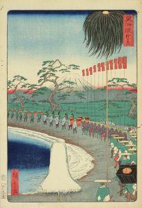 広重二代/東海道 (御上洛東海道) 鈴ヶ森のサムネール
