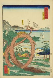 暁斎/東海道名所之内 (御上洛東海道) 田子浦 蛇松のサムネール