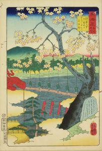 芳艶/東海道名所之内 (御上洛東海道) 深草の里少将さかせうくさくら元浄寺のサムネール