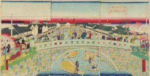 広重三代/東京浅草石橋ヨリ 神田川柳橋之図のサムネール