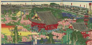 広重三代/江都名所浅草観音の図のサムネール