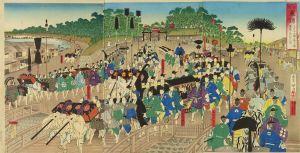 勝月/温古東錦 正月十日諸侯上野 霊廟へ参詣之図のサムネール
