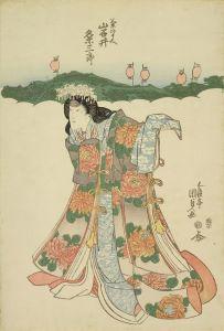 国貞/「一谷嫩軍記」 菊のまへ 岩井粂三郎のサムネール
