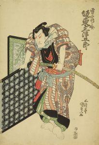 国貞/「万歳阿国歌舞伎」 雷鶴之助 坂東三津五郎のサムネール