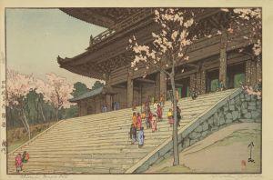 吉田博/桜八題 樓門 自摺のサムネール