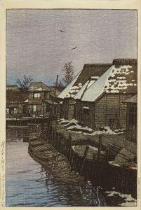 川瀬巴水/浦安の残雪のサムネール