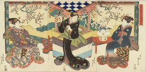 国貞/拳角力花の振袖のサムネール