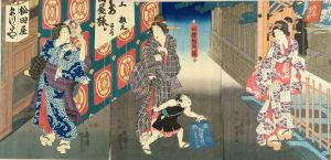 国貞二代/袖摺稲荷図のサムネール