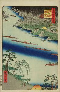広重/名所江戸百景  川口のわたし善光寺のサムネール