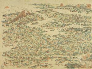 北斎/東海道鳥瞰図のサムネール