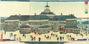 広重三代/東京築地ホテル館之図のサムネール