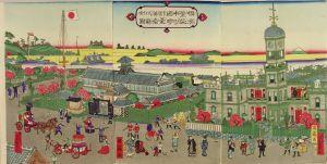 国鶴/横浜繁栄本町通 時計台神奈川県全図のサムネール