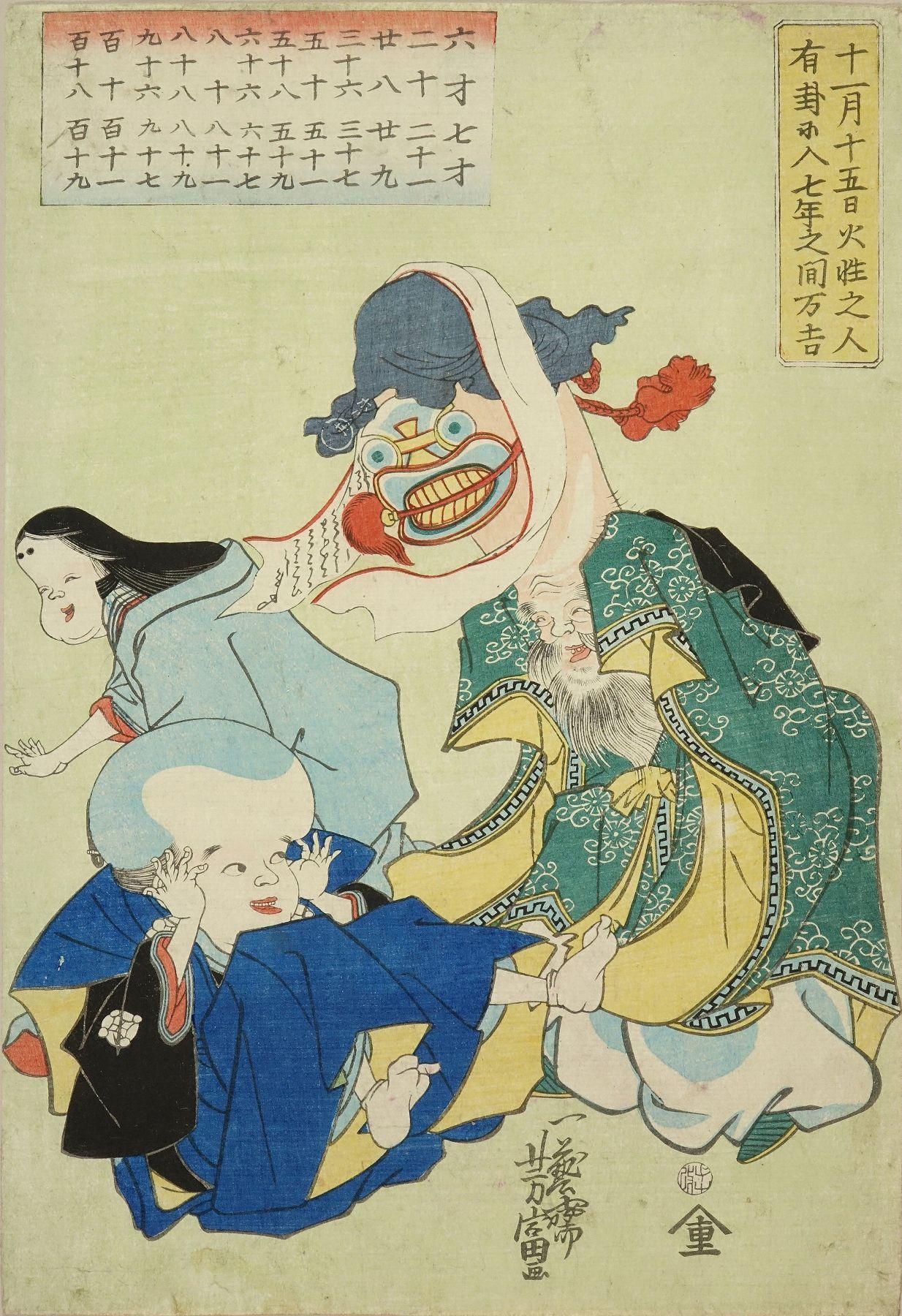 YOSHITOMI Playing auspicious figures